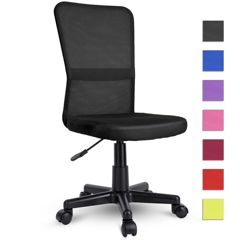 Kinderdrehstuhl Drehstuhl Schreibtischstuhl für Kinder Polsterung Mesh Schwarz